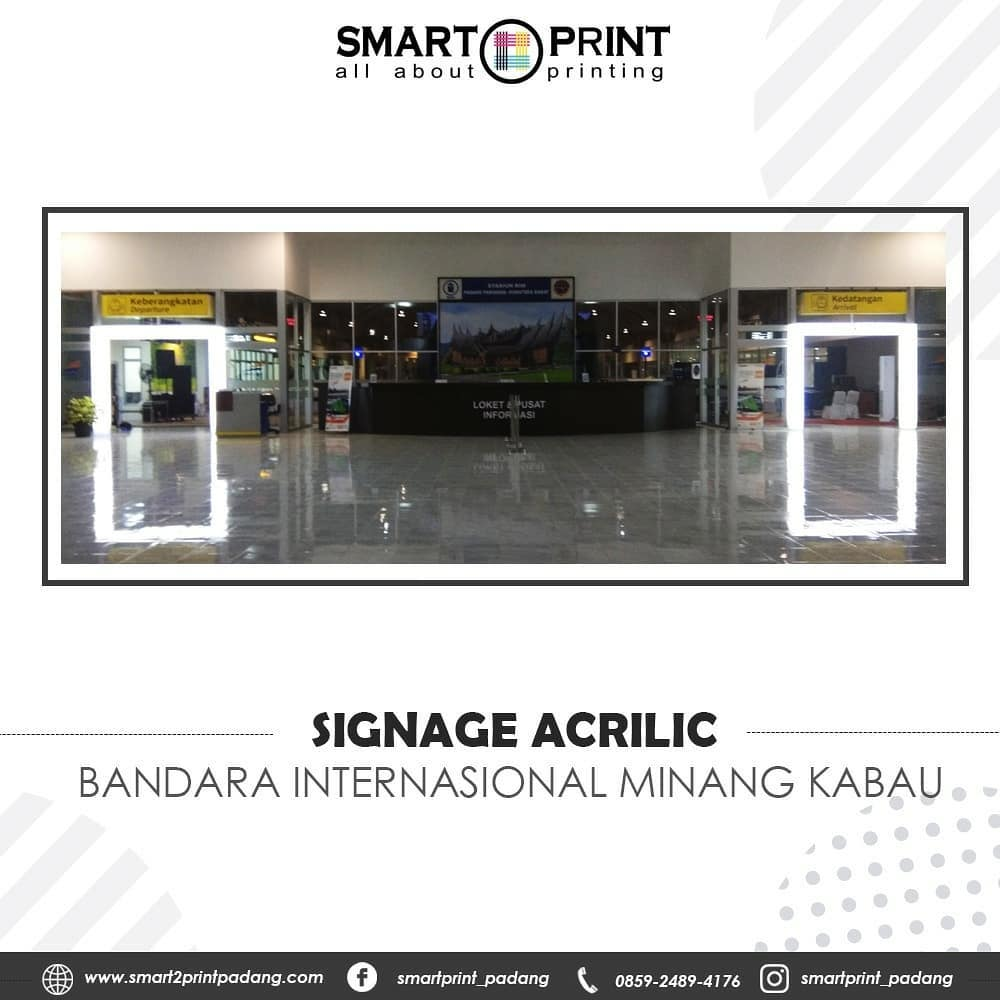 Jasa signage acrylic di Padang